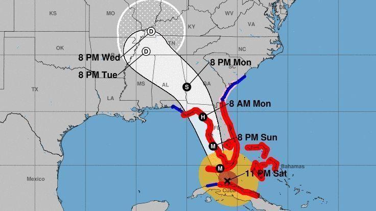 uraganul irma spre tampa